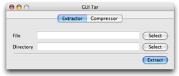 GUI Tar screenshot - Extractor